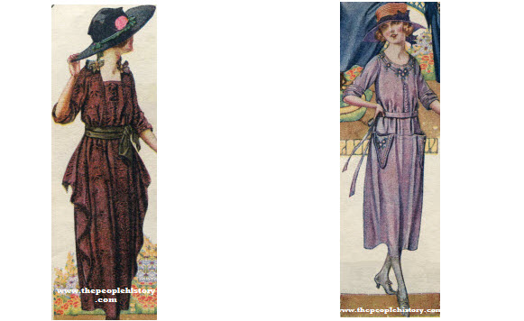 2 Ladies Dress Examples From 1920
