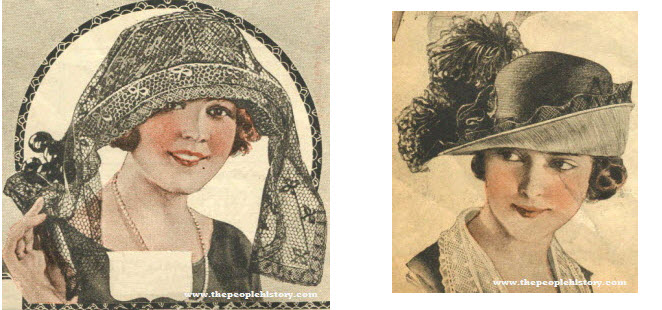Two Examples of Ladies Hats From 1921