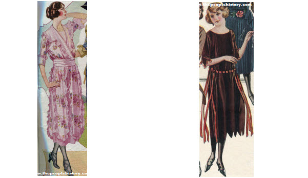 2 Ladies Dress Examples From 1922