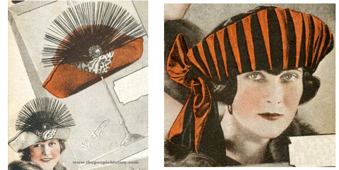 Two Examples of Ladies Hats From 1922