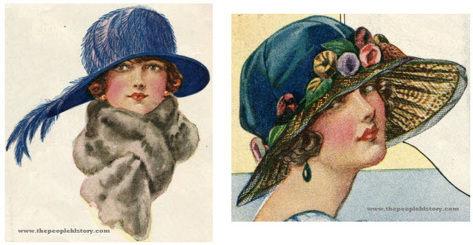 Two Examples of Ladies Hats From 1923
