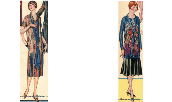 2 Ladies Dress Examples From 1924