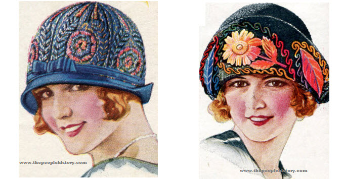 Two Examples of Ladies Hats From 1924