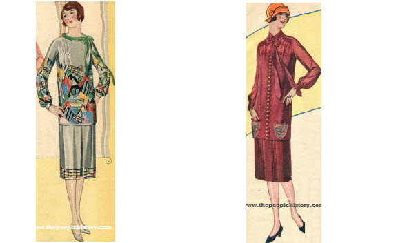 2 Ladies Dress Examples From 1925
