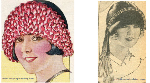 Two Examples of Ladies Hats From 1925