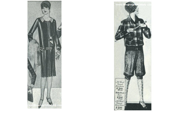 2 Ladies Dress Examples From 1927