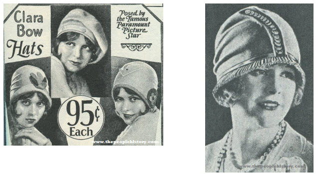 Two Examples of Ladies Hats From 1927