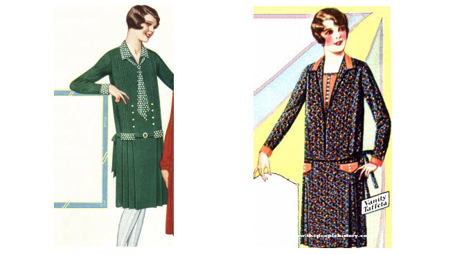 2 Ladies Dress Examples From 1928