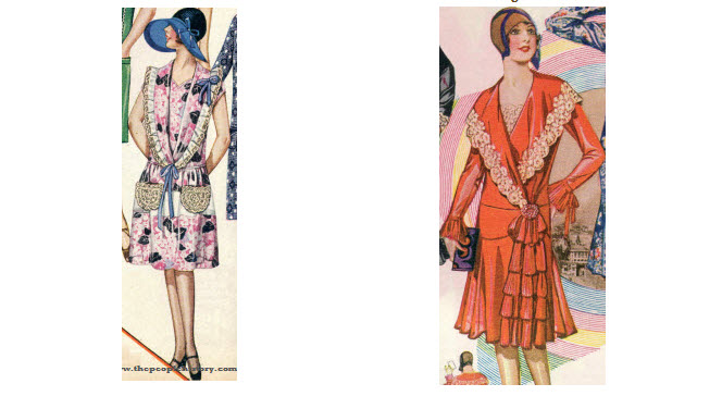 2 Ladies Dress Examples From 1929