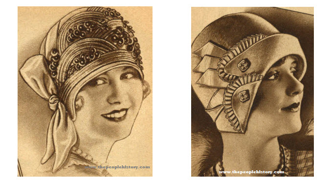 53501e65e66 Selection of 1920s Ladies Hats with Photos