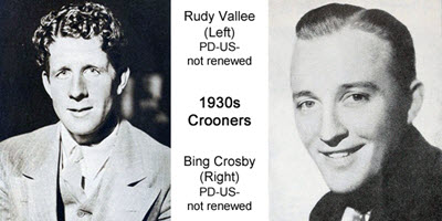 Well know Musicaians from 1930's Crooners / First Pop Stars