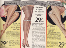 Ladies Rayon Stockings Hosiery From 1930's
