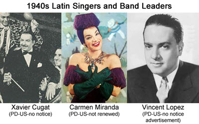 1940's Latin Influenced Music and Carmen Miranda Well known Musicians