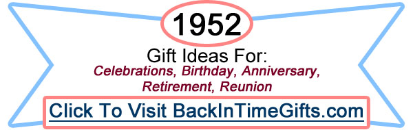 1952 Back In Time Gifts