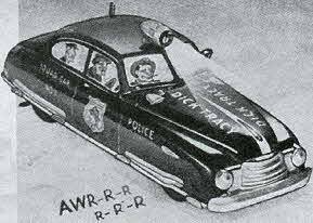 1950s Vintage Dick Tracy Siren Squad Car
