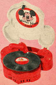 1950's Vintage Mickey Mouse Phonograph