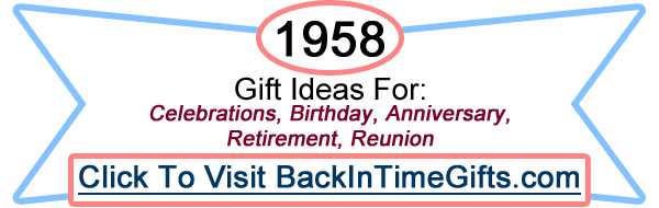 1958 Back In Time Gifts