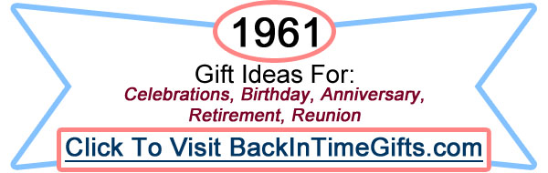1961 Back In Time Gifts