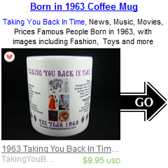 1963 Coffee Mug Birthday Gift