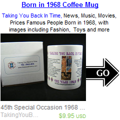 1968 Coffee Mug Birthday Gift