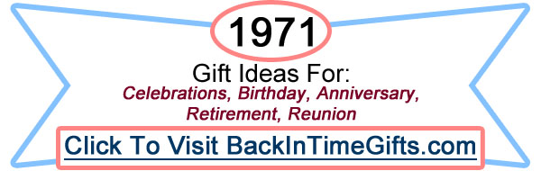 1971 Back In Time Gifts