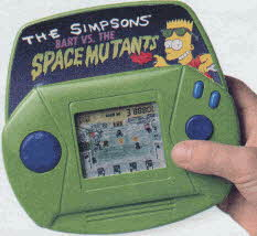 Bart vs. The Space Mutants Handheld Game From The 1990s