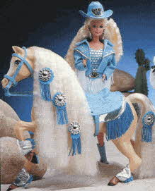 Western Barbie and Western Star Horse From The 1990s