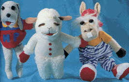 Lamb Chop Puppet Gift Set From The 1990s