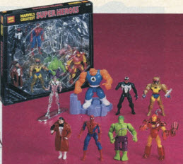 Marvel Action Figure Set From The 1990s