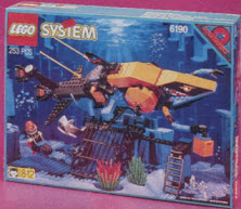 Lego System Shark's Crystal Cave From The 1990s