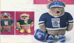 NFL Running Back Bear From The 1990s