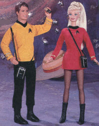 Star Trek Barbie and Ken From The 1990s