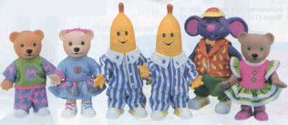 Bananas in Pajamas Figure Set From The 1990s