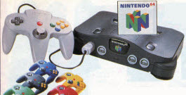 Nintendo 64 Game System From The 1990s