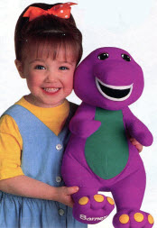 Popular Talking Barney from the childrens TV Show