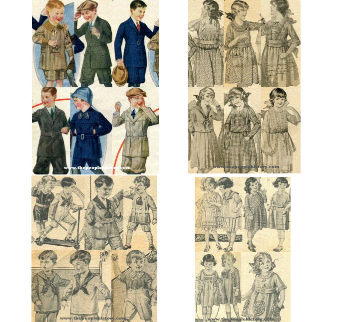 1920's 1920 and 1921 Boys and Girls Childrens Clothes Example 1