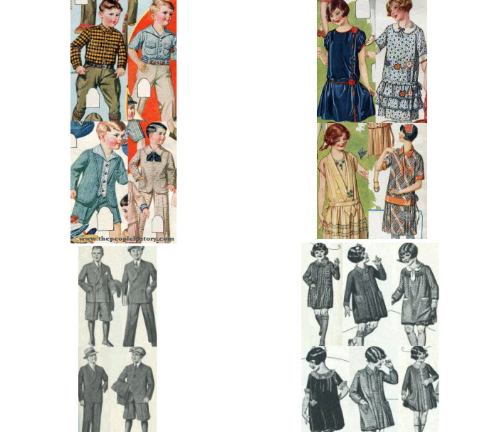 Example 4 1920's Boys and Girls Childrens Clothes from 1926 and 1927