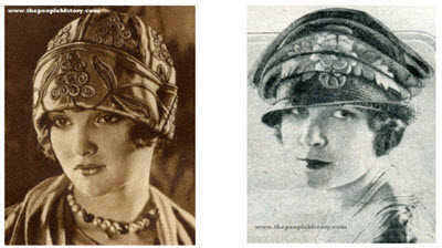 Examples of Ladies Hats From The 20's
