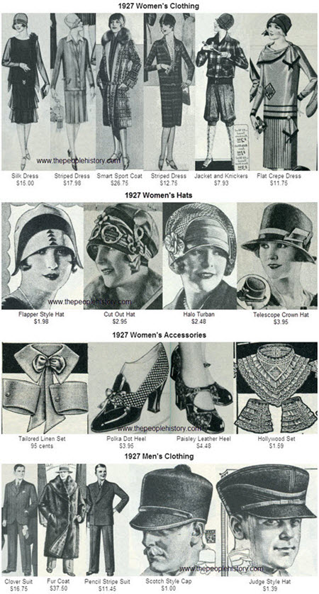 1927 Fashion Accessories from the 1920's including Ladies Hats ...