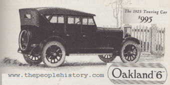 Oakland Touring Car on 1929 Dodge Sedan