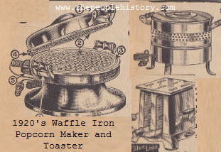 Popcorn Maker, Waffle Iron and Electric Toaster
