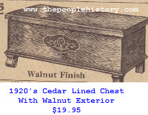 Cedar Lined chest with walnut veneer from the 20's