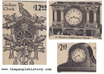 Range of Clocks including Mantle clock, Cuckoo Clock and 8 Day Wind Up Clock