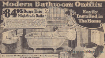 Early Twenties Bathroom Set Including Bathtub, Closet tank and Lavatory