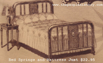 Bed, Springs and Mattress