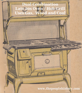 A Late Combination Gas Wood or Coal Burning Oven, Hob and Grill