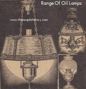 Range of Oil Lighting Lamps