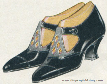 Patent Leather and Gray Suede Heel 1923