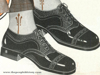 Black Patent Alligator Oxfords 1928