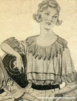 Colored Voile Blouse 1920